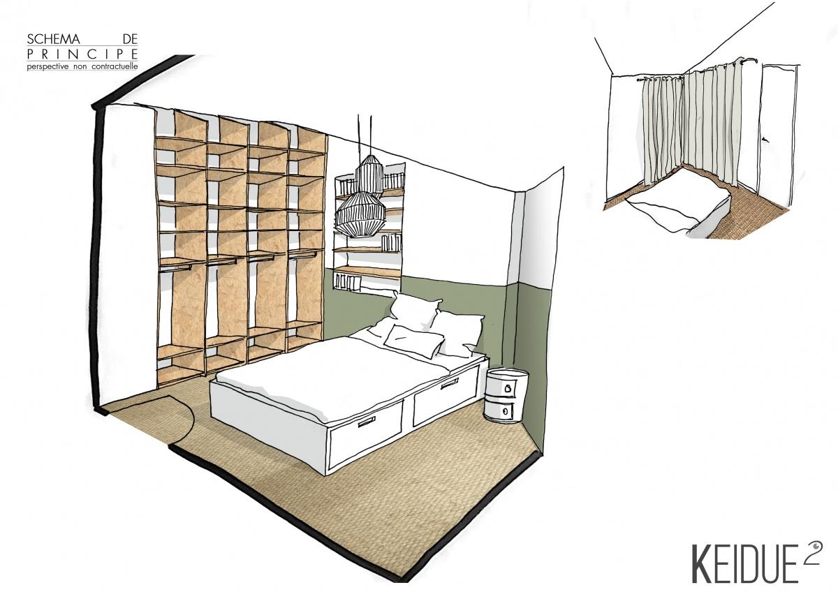 Rénovation Appartement : CHAMBRE KEIDUE