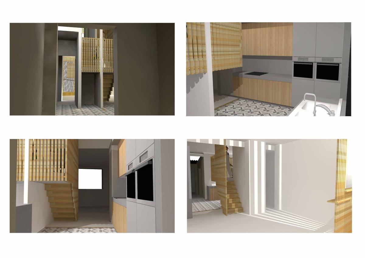 Rénovation et Surélévation : Asnière Rénovation-Surélévation Cuisine + Escalier
