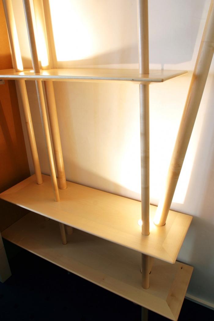 Mobilier : Bibliothèque : bois clair