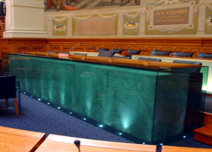 Conseil Général du Rhône : détail tribune