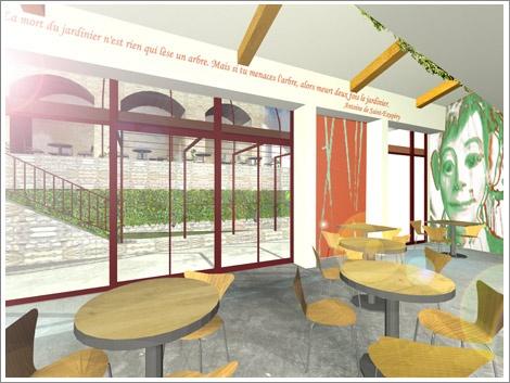 Concour  pour le café du Musée Gadagne. : jardin café gadagne