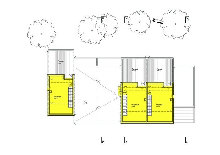 5 maisons de ville : niveau2