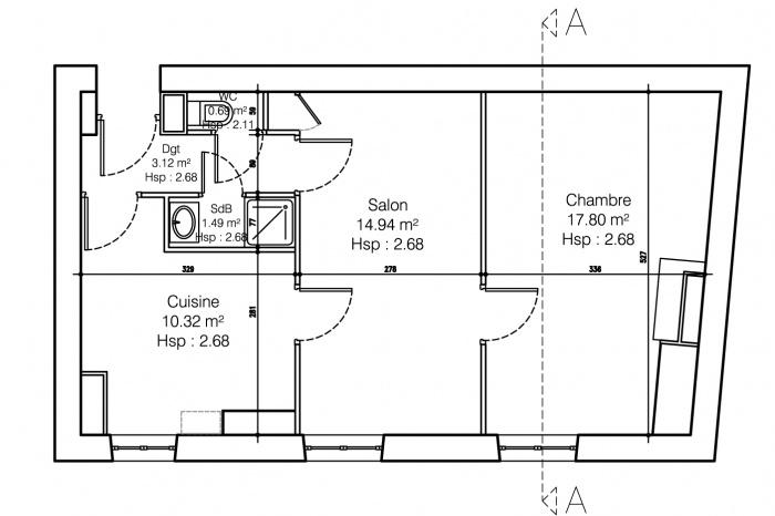 Duplex lyon lyon une r alisation de sylvain perillat - Appartement en duplex abraham architects ...