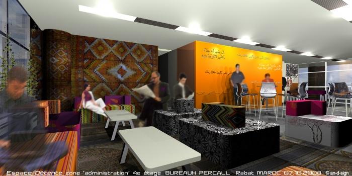 Percall - aménagement bureaux RABAT