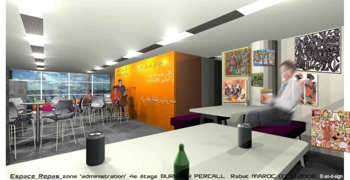 Percall - aménagement bureaux RABAT : repas.jpg