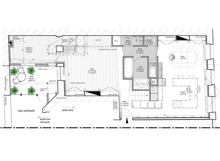 Transformation appartement : plan rdc.jpg