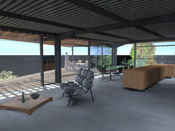 CANOPé de métal : maison-contemporaine-cm7