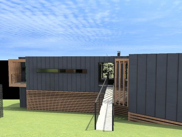 CANOPé de métal : maison-contemporaine-cm13