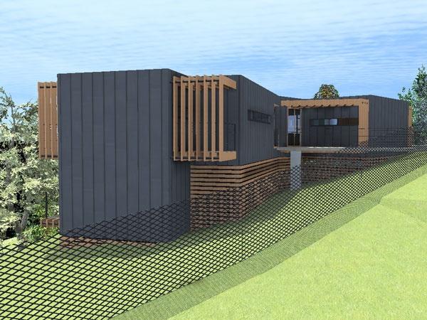 CANOPé de métal : maison-contemporaine-cm14