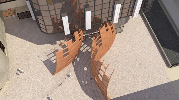 Sculpture monumentale Parvis Tour Siège Caisse d'Epargne : image_projet_mini_37637