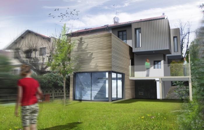 Extension maison individuelle à Bron