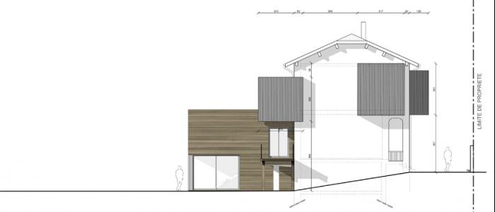 Extension maison individuelle à Bron : 2