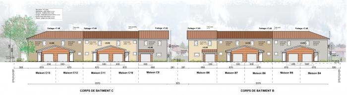 PC 13 villas : façade nord 2 inter.