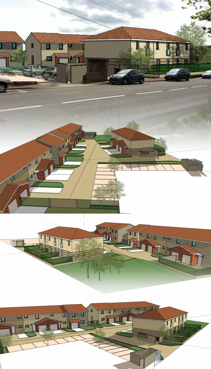 PC 13 villas : insertion / 3D
