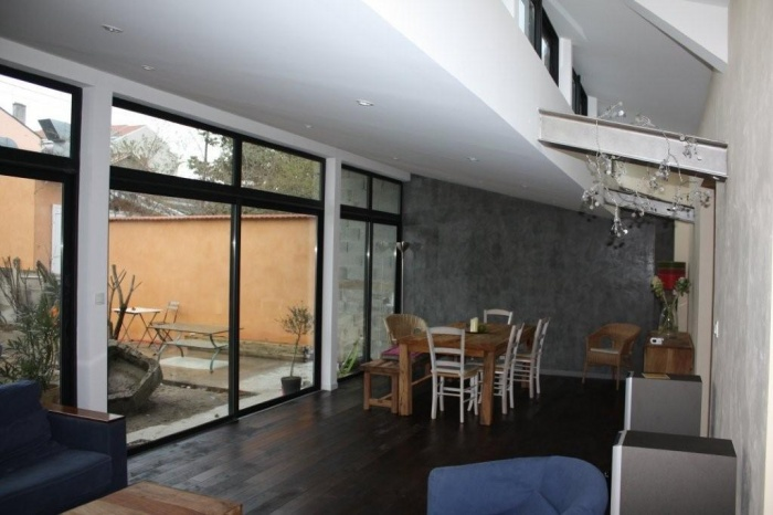 extension maison individuelle villeurbanne une. Black Bedroom Furniture Sets. Home Design Ideas