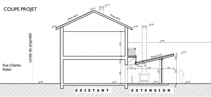 ... Extension Maison Individuelle : Coupe Projet ...