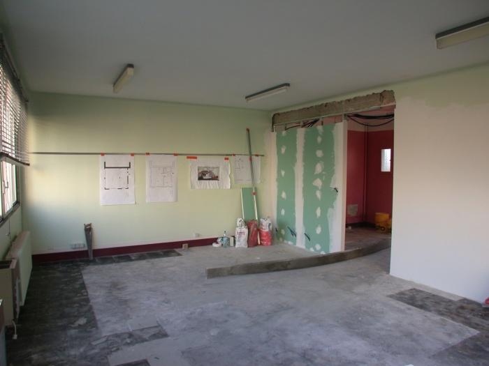 Réhabilitation d'un bureau de dessin : Pendant travaux