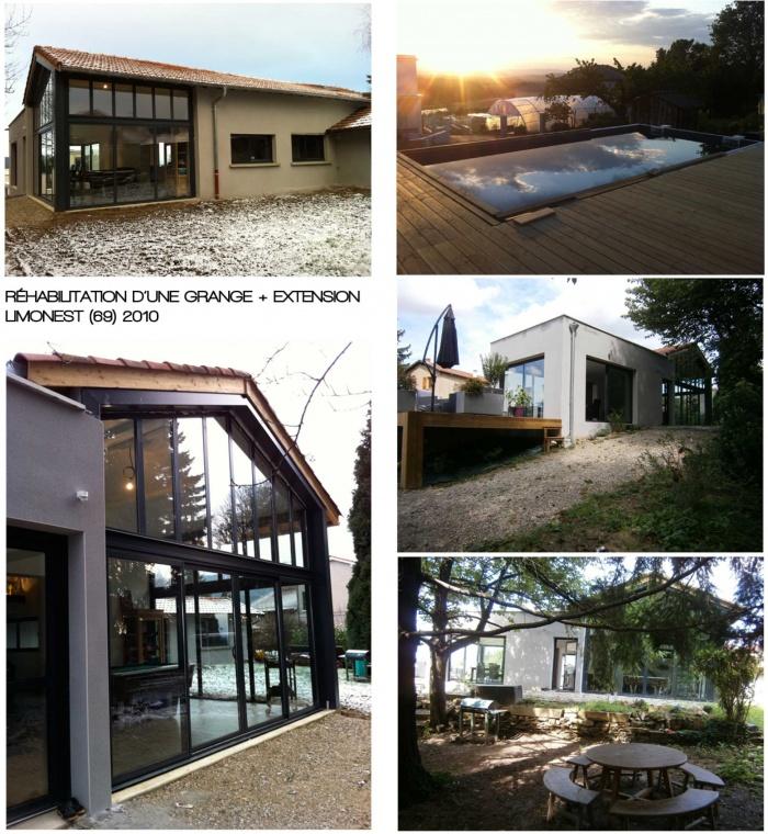Réhabilitation et extension d'une grange pour une habitation