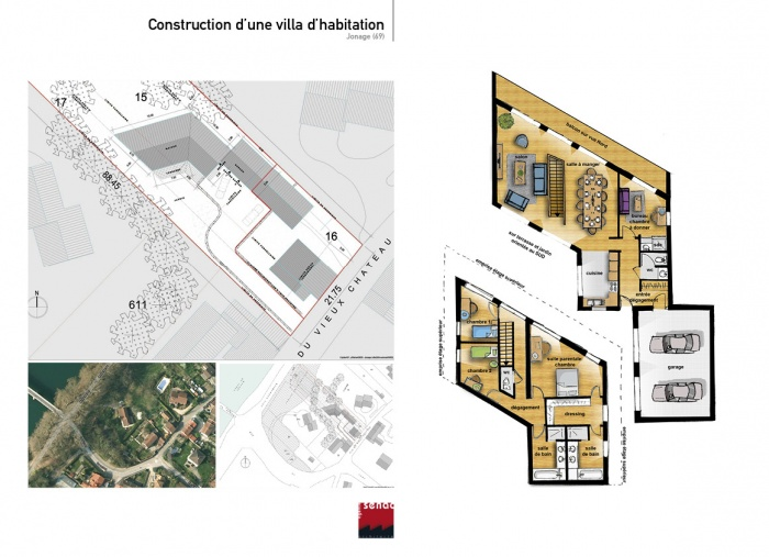 Construction d'une villa d'habitation
