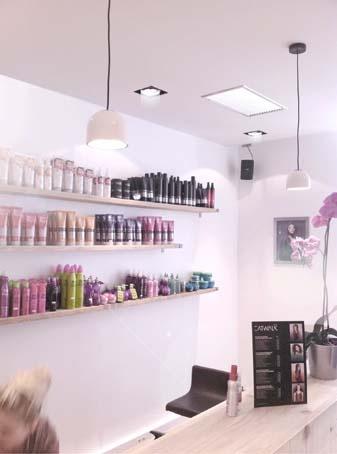 Coneption d'un Salon de coiffure : Accueil