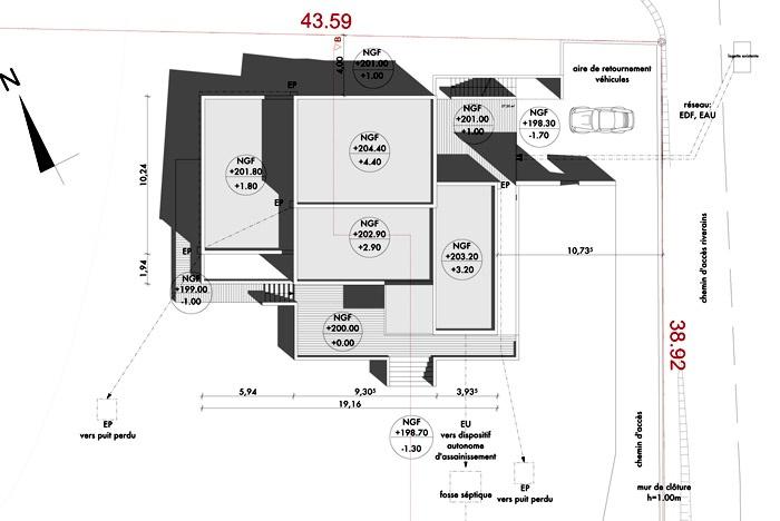 Maison p charmes sur l 39 herbasse - Refection toiture permis de construire ...