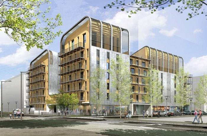 Concours-construction de 50 logements et commerces