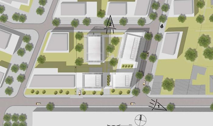 Concours-construction de 50 logements et commerces : pmasse