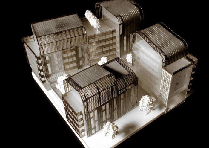 Concours-construction de 50 logements et commerces : maq