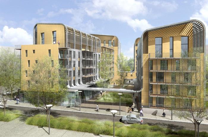 Concours-construction de 50 logements et commerces : pers0