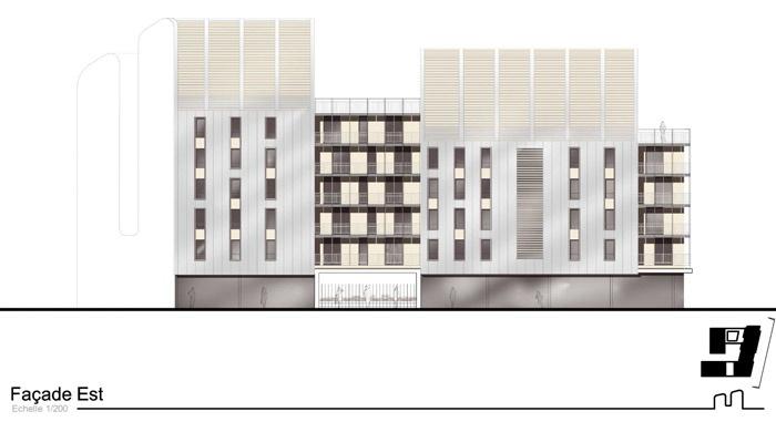Concours-construction de 50 logements et commerces : fa EST