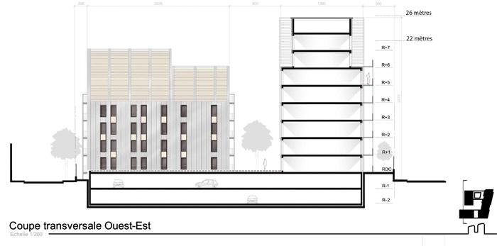 Concours-construction de 50 logements et commerces : fa5