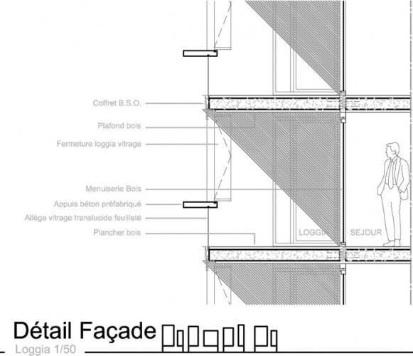 Concours construction de 90 logements et commerces - Architecte tassin la demi lune ...