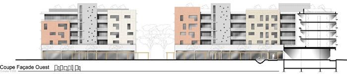 Concours-construction de 90 logements et commerces