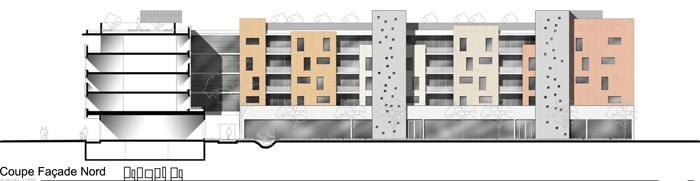 Concours-construction de 90 logements et commerces : fa N