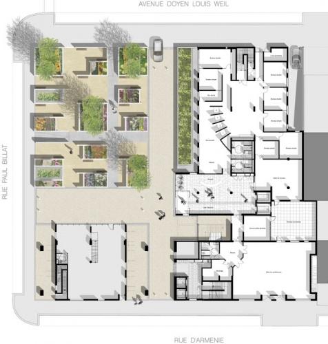 R alisation d 39 un immeuble de bureaux grenoble une for Immeuble bureau plan