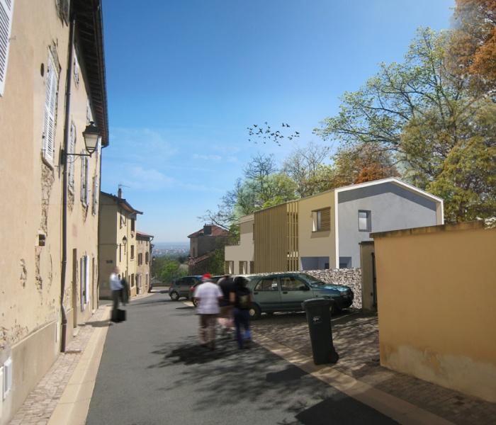 Maison contemporaine + logement collectif à Saint-Didier-au-Mont-d'Or