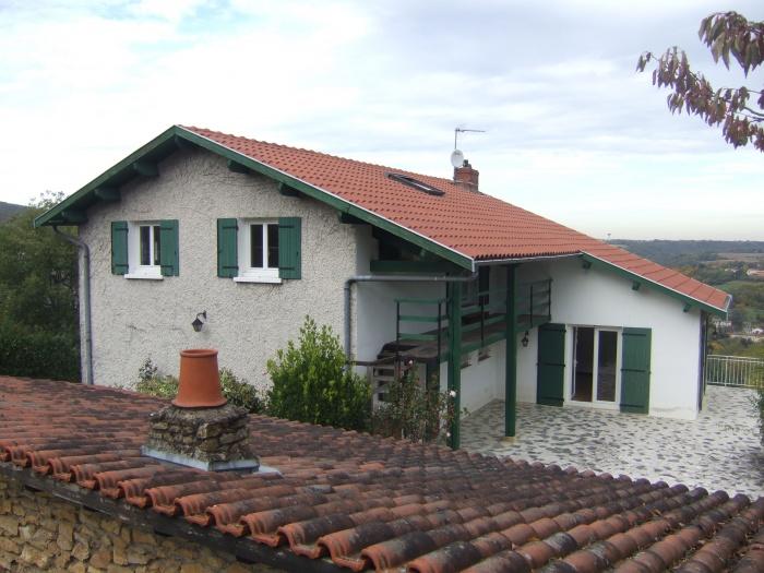Réhabilitation maison à Saint Romain au Mont d'Or : Côté terrasse avant travaux