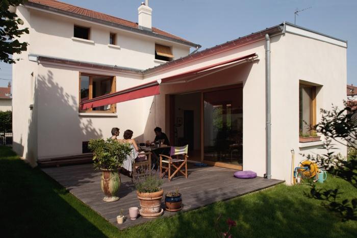 rénovation extension d'une maison ouvrière : terrasse