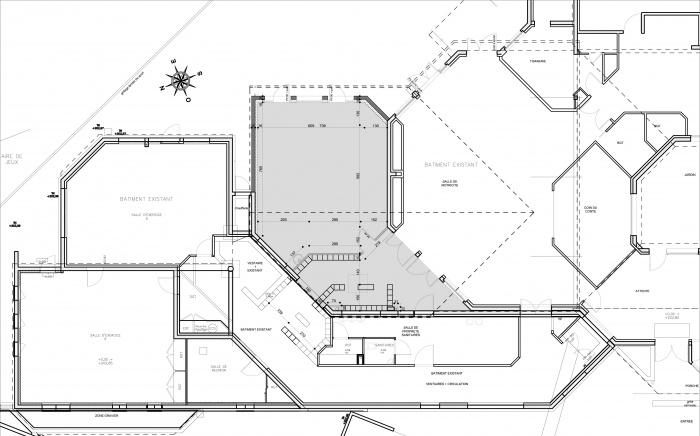 Extension école maternelle à Béligneux : plan du rdc