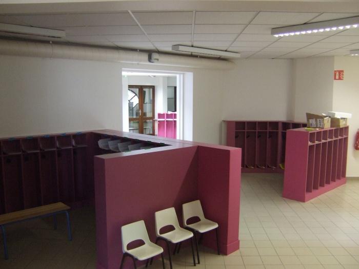 Extension école maternelle à Béligneux : Liaison existant et extension