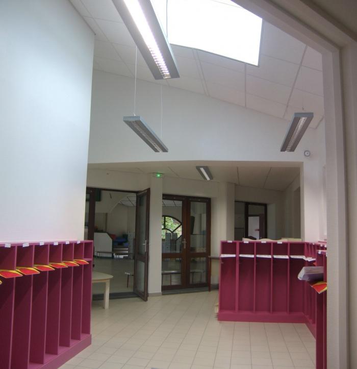 Extension école maternelle à Béligneux : Vestiaire