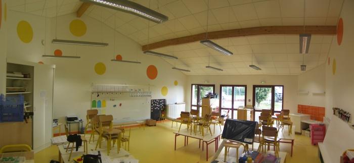 Extension école maternelle à Béligneux : Salle de classe