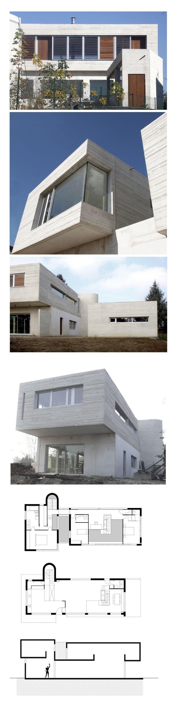 Maison en béton blanc