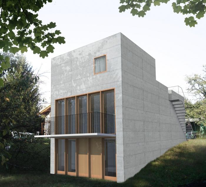 Maison avec toit jardin saint germain au mont d 39 or une for Jardin couvert lyon
