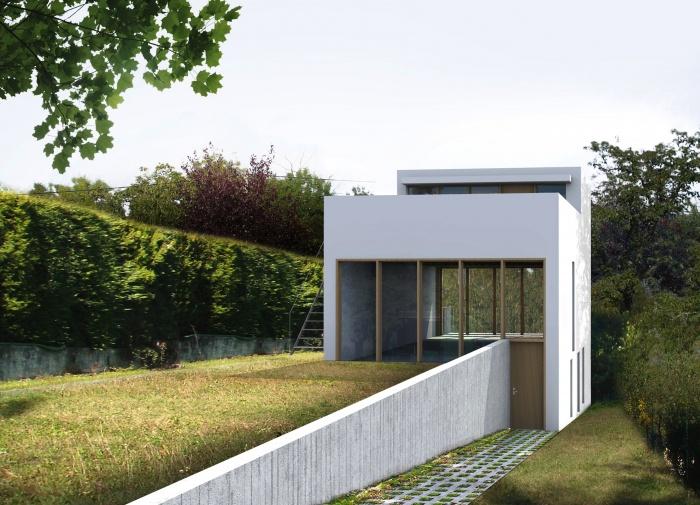 Maison avec toit jardin saint germain au mont d 39 or for Nom d architecte