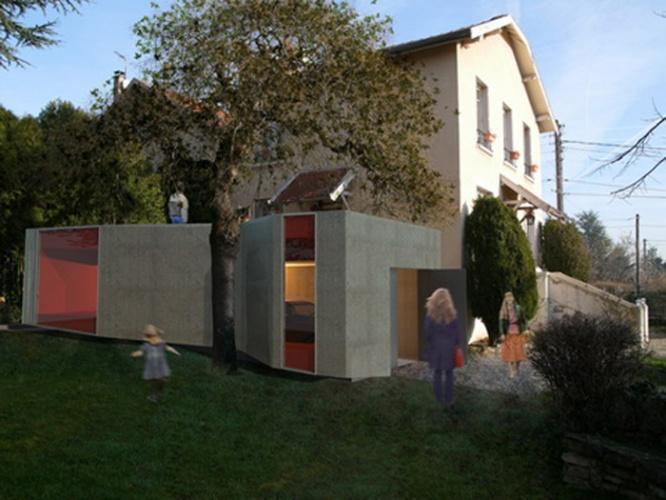 27 maisons ossature acier ou mixte acier bois d 39 architectes. Black Bedroom Furniture Sets. Home Design Ideas
