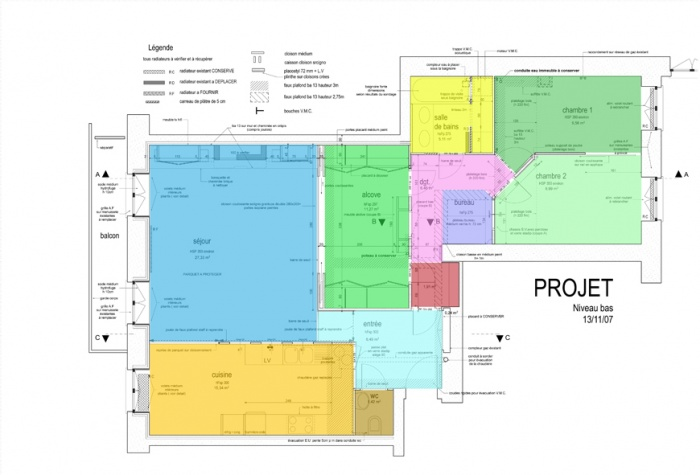 rénovation d'un appartement soyeux : BURDEAU 13 11 07  PROJET