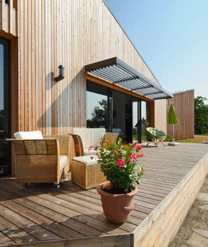 Maison contemporaine bois & ouate de cellulose / Basse énergie : 05_PARA