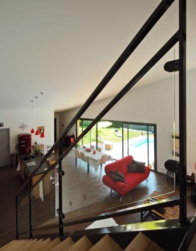 Maison contemporaine bois & ouate de cellulose / Basse énergie : 14_PARA