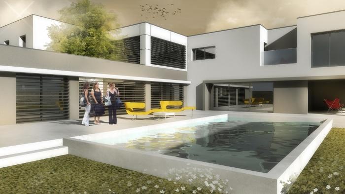 Maison contemporaine lyon 5 me lyon for Projet maison contemporaine